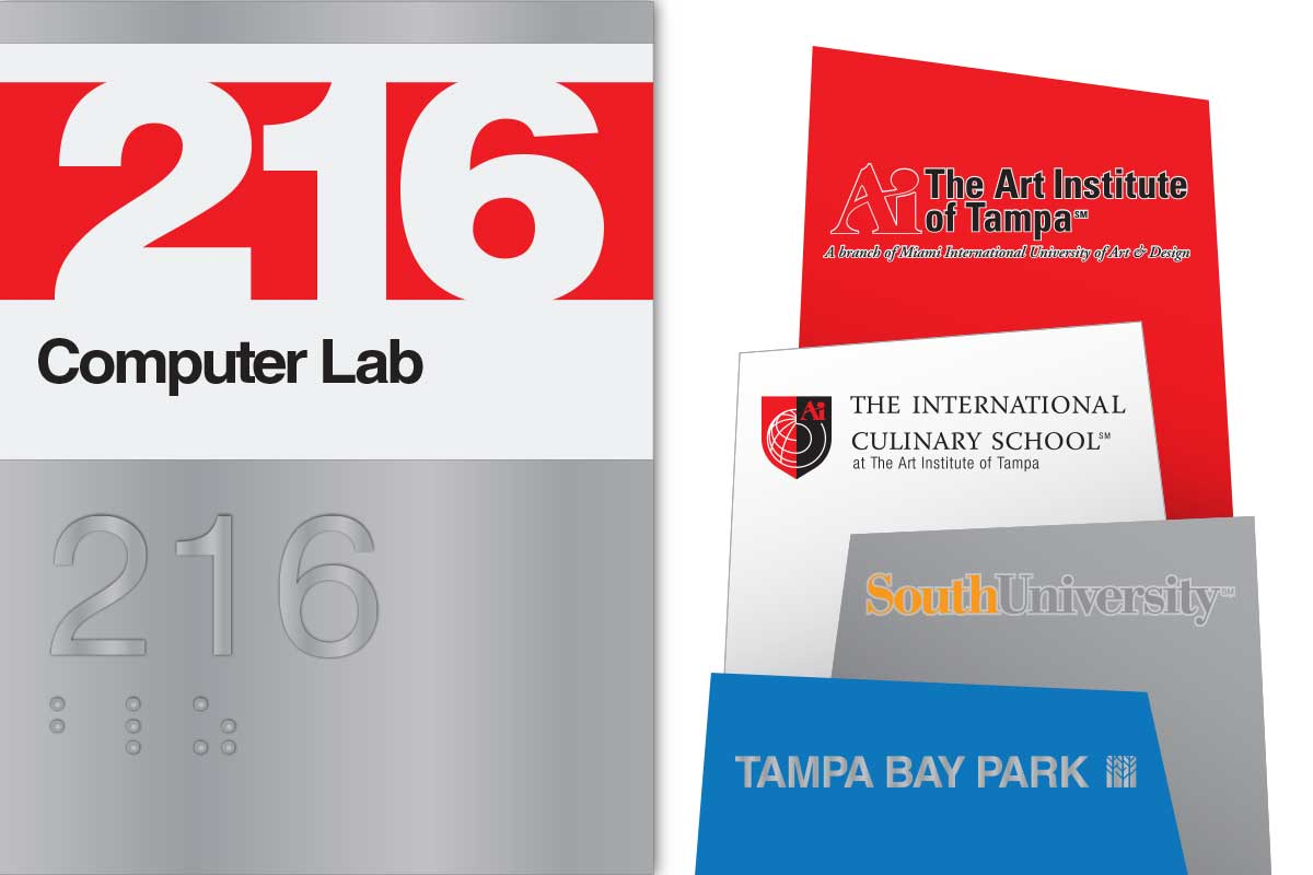Art Institute of Tampa Environmental Graphic Design and Wayfinding System